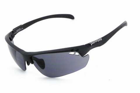 MP673-01 Frontline sunglasse in matt black frame with smoke 2mm PC lens