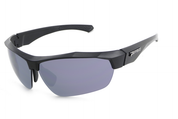 MP523-1 Kickback suglasses in matt black frame with TAC polarized smoke lens