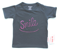 sequin smile tee available in baby toddler and junior girls sizes