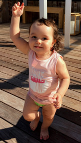Shine On baby and toddler girls tank top