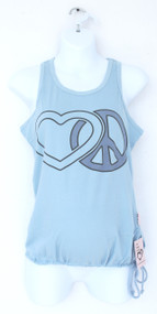 heart and peace sign adjustable bottom maternity tank