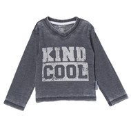 Kind is Cool | infant, toddler and kids l/s tee | charcoal, white