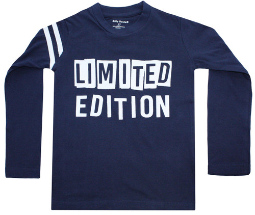Limited Edition long sleeve toddler boys and big boys tee.