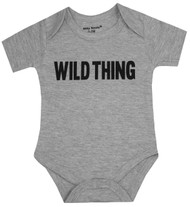 Wild Thing, grey bodysuit