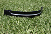 Black Patent Leather Flat Band Browband with White Patent Insert