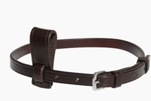 Image shows Removable Stitched Flash Converter/ Attachment with Flash Strap, in Havana Leather.