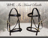 WHE In Hand Bridle (Square Raised Flat Browband and Noseband)