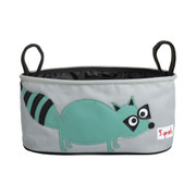 3 Sprouts Stroller Organiser - Teal Raccoon