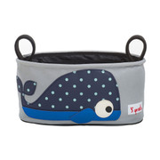3 Sprouts Stroller Organiser - Blue Whale
