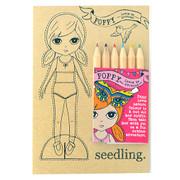 Seedling Poppy Paper Doll Set