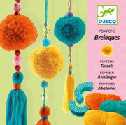 Djeco 3 Beads Pompoms Wool Craft