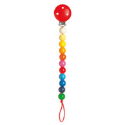 Heimess Pacifier Holder Rainbow Beads