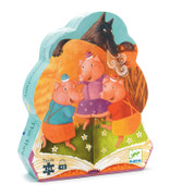 Djeco The 3 Little Pigs 24pc Silhouette Puzzle