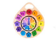 Kiddie Connect Wooden Clock Puzzle