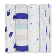 Aden + Anais Classic Swaddles High Seas 4-pack