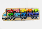 Kiddie Connect 1-10 Wooden Car Puzzle