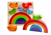 Kiddie Connect Bird And Rainbow Puzzle