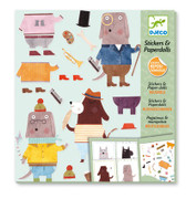 Djeco My Dog Friends Stickers And Paper Dolls