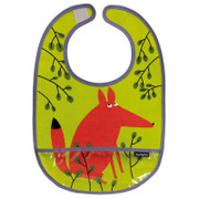 Petit Jour PVC Coated Cotton Bib Forest