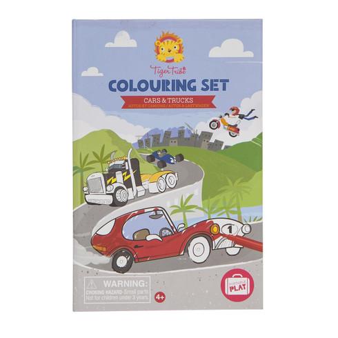 Tiger Tribe Colouring Set - Cars & Trucks