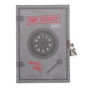 Tiger Tribe Lockable Diary - Top Secret