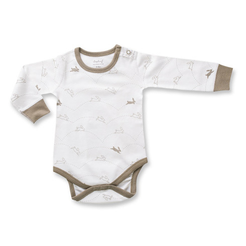 Sapling Bunny Long Sleeve Bodysuit - Front