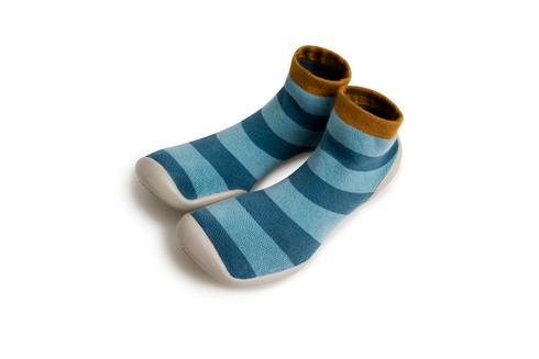 Collegien Slipper Socks Blue Stripes