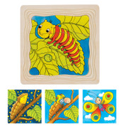 GOKI Caterpillar Lifecycle 4 Layer Puzzle