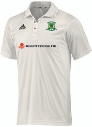 Overstone Park Cricket Club Short Sleeve Cream Shirt