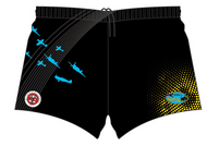 Stunts 7's Sublimated Shorts - Black