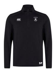 Veseyans Rugby Adult Black Club 1/4 Zip Mid Layer