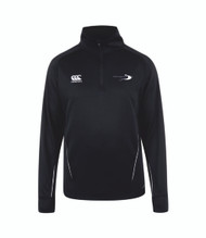 Stratford Upon Avon College Sport Black ¼ Zip Midlayer