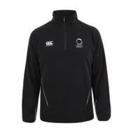 England Korfball Black Adult Team 1/4 Zip Micro Fleece
