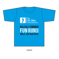 The Lily Mae Foundation Sky Blue Balsall Common Fun Run 2019 Unisex T-shirt
