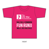 The Lily Mae Foundation Pink Balsall Common Fun Run 2019 Unisex T-shirt