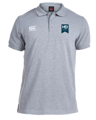 HOW College HEI Mens Grey Waimak Polo