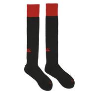 Spartans RFC Junior Black & Red Team Cap Sock