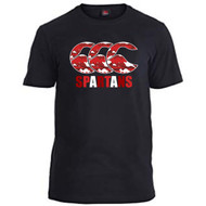 Spartans RFC Adult Black Team Tee