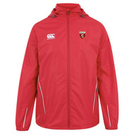 Spartans RFC Adult Red Full Zip Rain Jacket