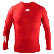 Spartans RFC Adult Red Thermoreg Long Sleeve Top