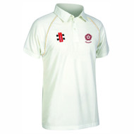 Northants Cricket Seniors Short Sleeve Cream Matrix Jersey