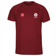 Northants Cricket Seniors Maroon Matrix T-shirt