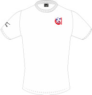 Harriers Netball Mizuno Shizouka Men's White Tee (UMPIRES ONLY)