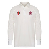 Northants Cricket Seniors Long Sleeve Cream Matrix Jersey