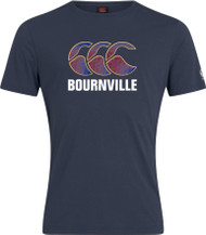 Bournville RFC Junior Navy Club Plain Cotton Logo Tee