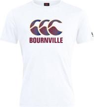 Bournville RFC Adult White Club Plain Cotton Tee