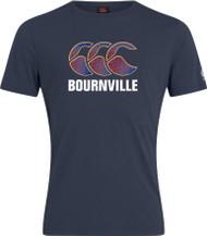 Bournville RFC Adult Navy Club Plain Cotton Tee