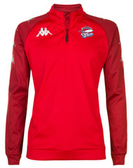 COB Rockets Triest 1/4 Zip Coaches Top Red