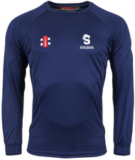 Northants Coaches Senior Navy Matrix Long Sleeve T-shirt