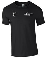 BMET College Performing Arts Black Unisex T-Shirt Large Logo